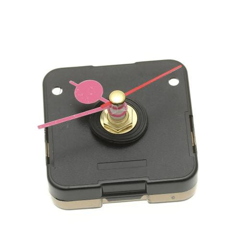 Black Quartz Clock Movement with Pink Alloy Round Hour Minute Second Hand DIY