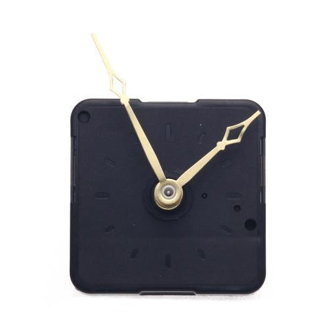 Black Quartz Clock Movement with Hour Minute Second Hand for DIY Replacement