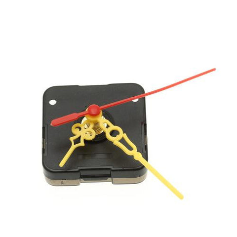 Quartz Clock Movement with Yellow Plastic Hour Minute Second Hand Replacement