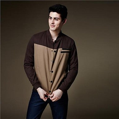 Men's New Warm Fashion Stylish Cotton Slim-fit Stand Collar Long Sleeve Casual Jacket