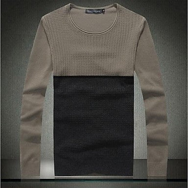 Men's Fashion Round Neck Slim Pullover Sweater