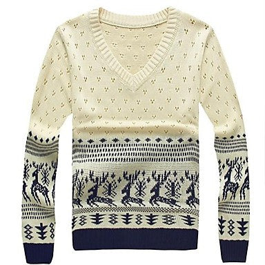 Men's Fashion Hollow V-neck Sweater