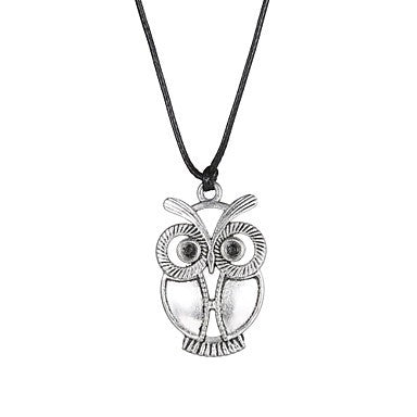 Fashion Stainless Steel Owl Pendant Necklace