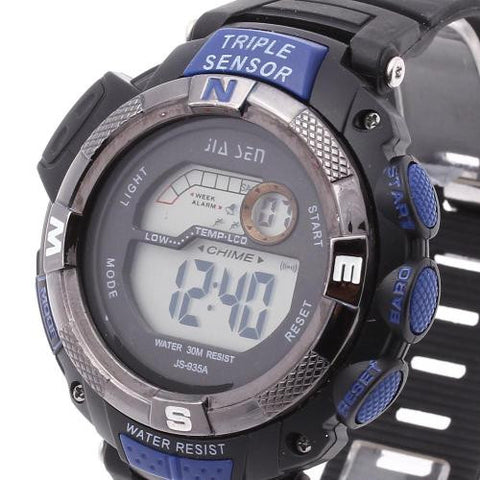 Men LED Digital Wrist Watch Calendar Timer Plastic Band Sport New Hot