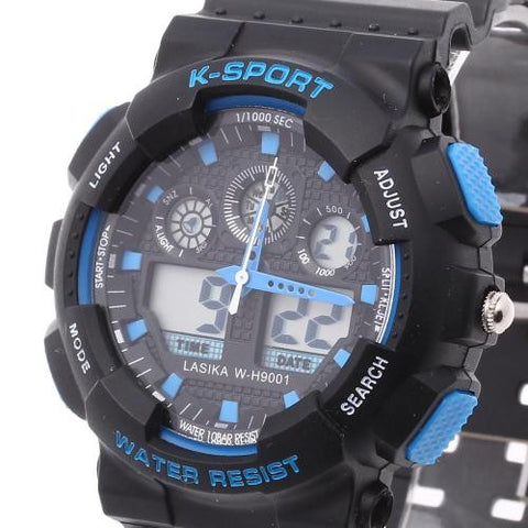 Men LED Digital Wrist Watch Alarm Calendar Time Plastic Band Sport