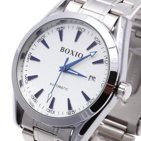 Men's Wristwatch Watch Automatic Mechanical White Round Dial Calendar Business