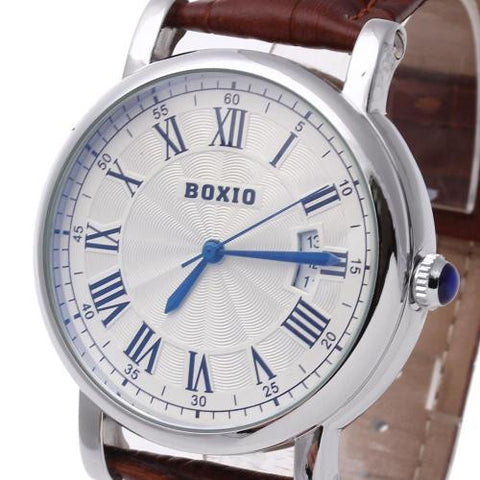 Men's Wristwatch Watch Automatic Mechanical White Dial Calendar Roman Numerals