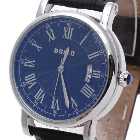 Men's Wristwatch Watch Automatic Mechanical Round Dial Calendar Roman Numerals
