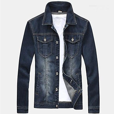 Men's Slim Long Sleeved Denim Jacket