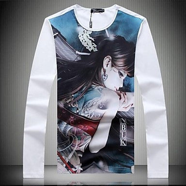 Men's New High Quality Long Sleeve Round Neck T-shirt