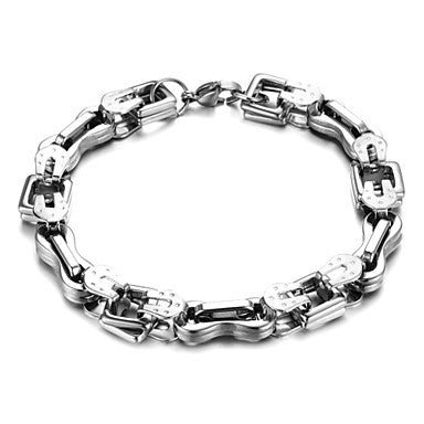 Fashion Men's Personalized Stainless Steel Great Lines Chain Bracelet (1 Pc)