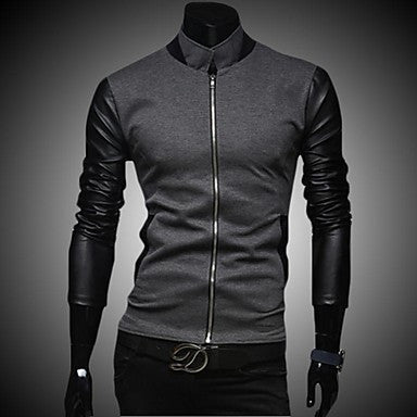 Men's Korean Fashion Personality Splicing Sweater Coat