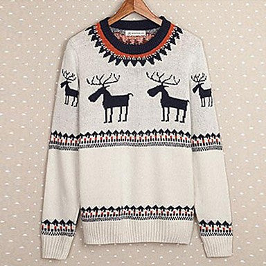Men's The Japanese Folk Style Sweater Round Neck Sweater.