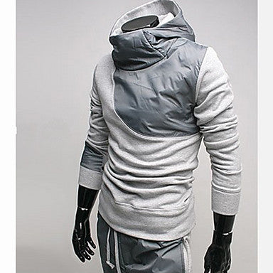 Men's Contrast Color Hoodie Suits