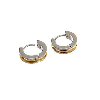 Vintage Shinning Golden Silver Alloy Stud Earring(1 Pair)
