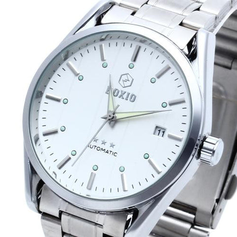 Men's Automatic Mechanical Wrist Watch Steel Band Luminous Date Sport Classic