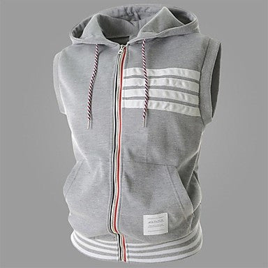 Men's Solid Color Slim Hoodies Vest
