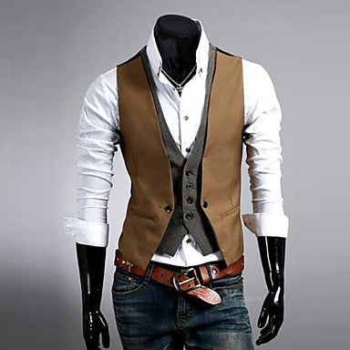 Men's Premium Layered Style Slim Vest Waist Coat