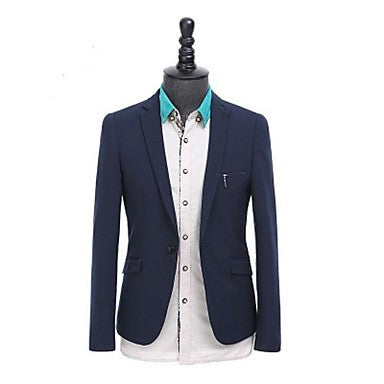 Men's Tailor Collar Formal Long Sleeve A Single Breasted Suit
