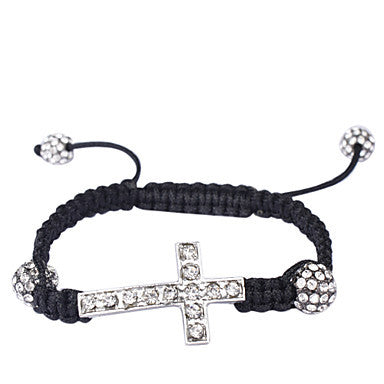 Woven Bracelet with Cross