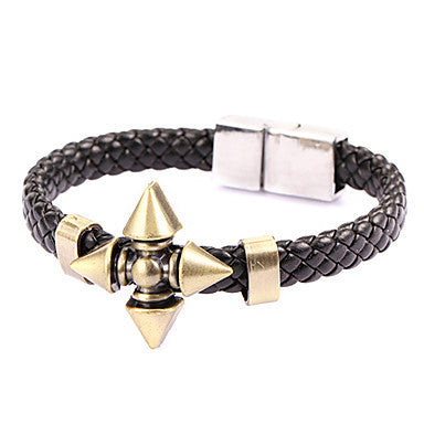 Punk Style Cross Dart Alloy Leather Bracelet(1 Pc)