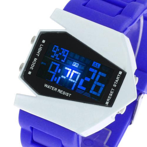 Unisex LED Digital Wrist Watch Calendar Time Alarm Silicone Band