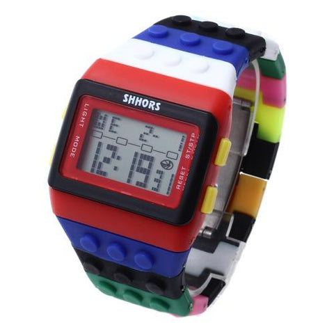 Men Wrist Watch Wristwatch Rubber Band Calendar Week Alarm Clock LED Casual