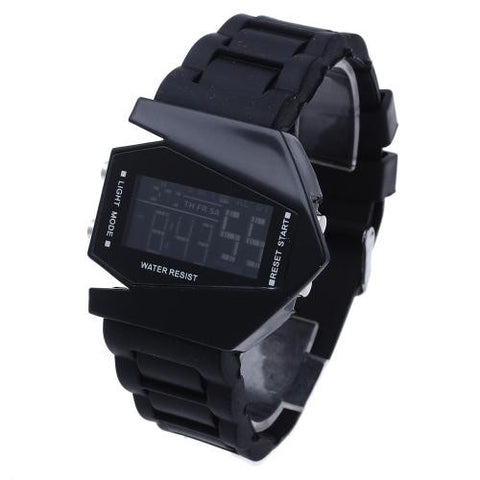 Men Wrist Watch Wristwatch Silicone Band Calendar Week Alarm Clock LED Digital