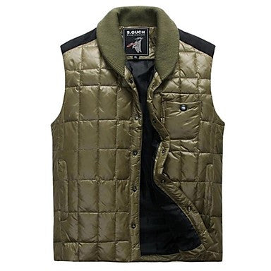 Men's The new fashion Men's cultivate One's morality short thin warm down vest