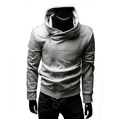 Men's Oblique Zipper Jacket