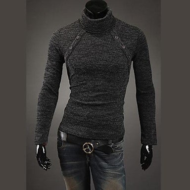 Men's Fashion of Eight Buckle Design Sweater