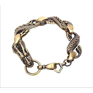 Chinese dragon Alloy Charm Bracelet 2PC