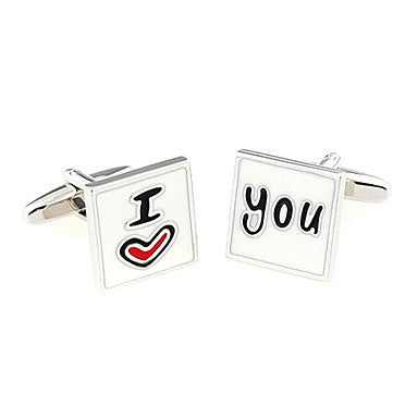 Men¡¯s I Love You Style Cufflinks