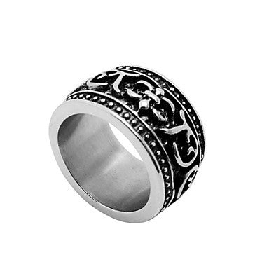 Cool Design Fashion Vintage Titanium Steel Men's Rings (1 Pc)