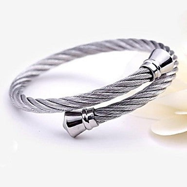 Men's Fashion Personality Joker Titanium Steel Opening Bracelets