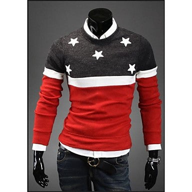 Men's Fashion Color Sweater