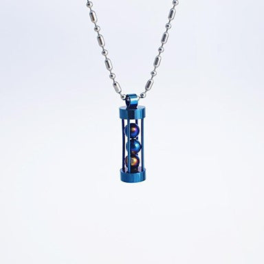 Fashion Men's Titanium Steel Beads Pendant Necklace