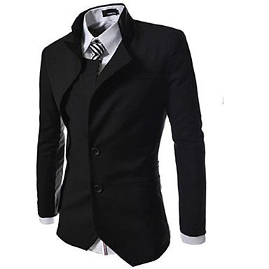 Men's Fashion Personality Long Sleeve Simple Cultivation Blazer