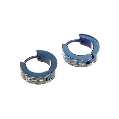 Classic Cross Pattern Blue Alloy Stud Earring(1 Pair)