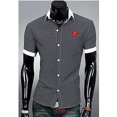 Men's Casual Fashion Stand Collar Shirt