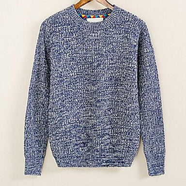 Men's Autumn Winter Explosion Solid Pick Color T-Shirt Sweater