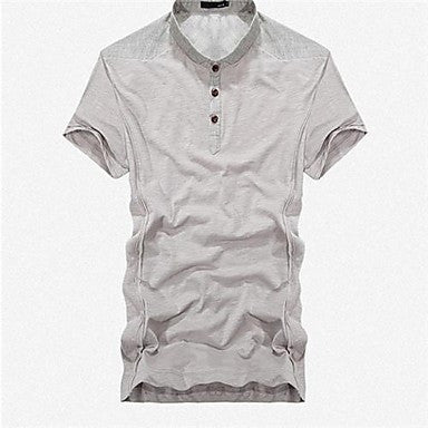 Men's Joining Together Lapel Short Sleeve T-Shirt