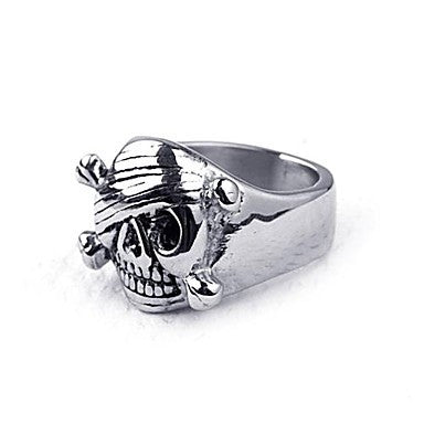 Mumar Fashionable Skull Shaped Stainless Steel Men¡®s Rings