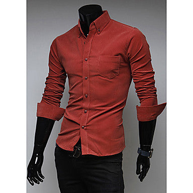 Men's Lapel Single Breasted Shirt