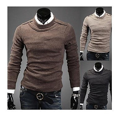 Men's business toward a round collar of cultivate One's morality turtleneck sweater 7528