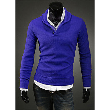 Men's Mushroom Knot Long Sleeve Knitwear