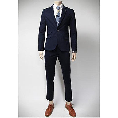 Men's Handsome One Button Solid Color Blazer Clothing Sets