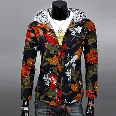 Men's Inclined Zipper Long Sleeved Jacket