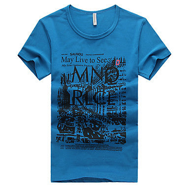 Men's Picture Print Fashion T-Shirt