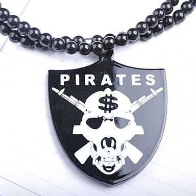 Pirates Pattern Acrylic Necklace